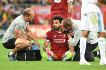 Mohamed Salah, accidentat in finala Champions League