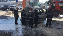 Masina arsa in benzinarie