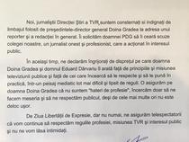 Scrisoarea jurnalistilor TVR