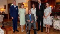 Los reyes de España y la princesa Margarita de Rumania
