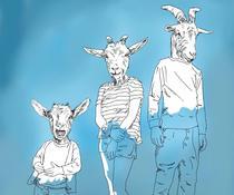 Un lup, o capra si 3 iezi simpatici: desen Zsolt Fehervari