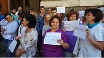 Protest la Spitalul Judetean Cluj