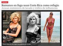 Elena Udrea, subiect de presa in Costa Rica