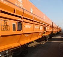 Vagon special de transport minereu de uraniu