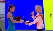Gabriela Firea, huiduita la ceremonia dedicata Simonei Halep