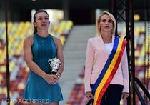 Simona Halep si Gabriela Firea pe Arena Nationala