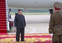 Kim Jong Un la intoarcerea din Singapore