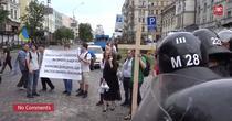 Protest impotriva paradei gay, la Kiev