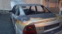 Masina incendiata in Timisoara