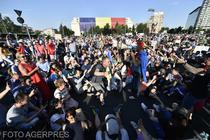 Protest impotriva PSD-ALDE in Piata Victoriei