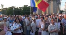 Protest la Chisinau fata de invalidarea alegerilor pentru primar