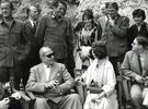 Regele Mihai (dreapta jos) la filmarile pentru Tunurile din Navarone