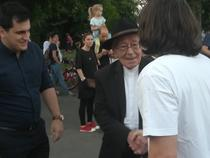 Mihai Sora la protest