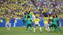Yerry Mina si golul care a dus Columbia in optimile CM