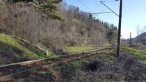 Calea ferata Brasov - Predeal, la Timisu de Jos