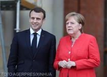 Emmanuel Macron si Angela Merkel