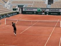 Simona Halep, antrenament pe Lenglen
