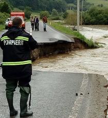 Inundatii masive in Romania