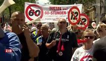 Protest impotriva zilei de lucru de 12h - Viena