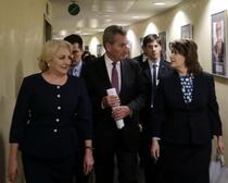 Viorica Dancila, Gunther Oettinger si Rovana Plumb
