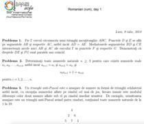 Subiecte de la olimpiada internationala de matematica 2018