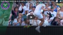 Rafael Nadal si publicul de pe centralul londonez