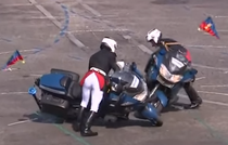 Incident motociclisti Ziua Nationala a Frantei