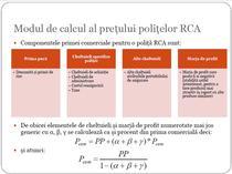 Modul de calcul al preturilor RCA