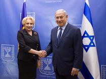 Viorica Dancila si Benjamin Netanyahu