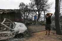 Incendii devastatoare in Grecia
