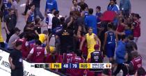 Bataie generala la un meci de baschet Filipine vs Australia