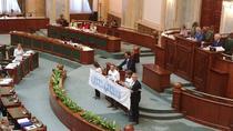 USR - banner in Senat