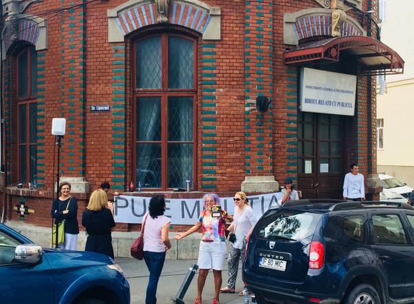 Protest Puie Molitia