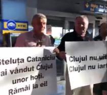 Protestatari la aeroportul din Cluj