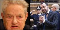 Salvini il ataca si el pe Soros