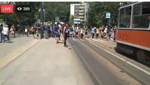 Protest la Cluj pe trecerea de pietoni