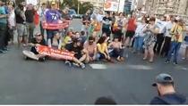 trecere blocata Piata Victoriei