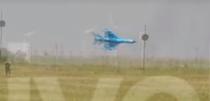 Momentul prabusirii avionului MiG LanceR