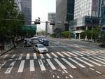 Trafic in centrul orasului Seul