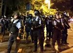Jandarmi in Piata Victoriei