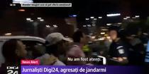 Ziarist DIGI bruscat la proteste
