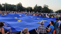 Steag UE in Piata Victoriei