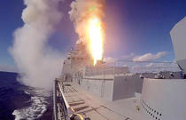 Racheta Kalibr trasa de pe o fregata ruseasca din Marea Neagra