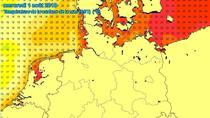 Temperatura apei marii in nordul Germaniei, Poloniei, Belgiei si Olandei