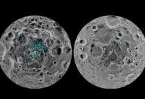 Petice de gheata pe Luna (punctele verzi)