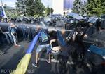 Gaze lacrimogene la protestul din 10 august