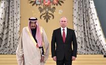 Regele Salman si Vladimir Putin