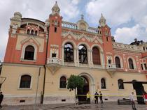 Palatul Episcopal din Oradea dupa incendiu