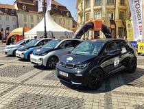 Masini electrice la Raliul Sibiului