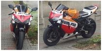 Mesaj anti-PSD pe motocicleta unui bistritean